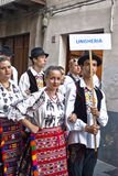 Hungarian folk group royalty free stock photography