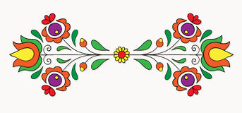 Hungarian folk motif Royalty Free Stock Images