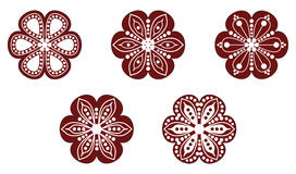 Hungarian folk ornament. In white background Stock Images