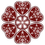 Hungarian folk ornament. In white background Royalty Free Stock Photo
