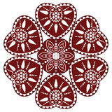 Hungarian folk ornament. In white background Royalty Free Stock Photography