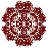 Hungarian folk ornament. In white background Stock Photography