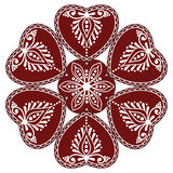 Hungarian folk ornament Stock Images