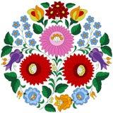 Hungarian folk pattern from Kalocsa region Stock Image