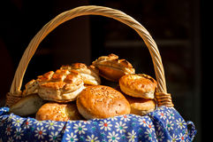 Hungarian food. Traditional hungarian food on dark background stock images