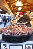 Hungarian foods at a christmas fair in Budapest Royalty Free Stock Photography
