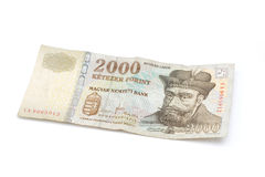 Hungarian Forint Banknote - 2000 HUF Stock Image
