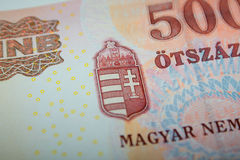Hungarian 500 Forint Banknote Royalty Free Stock Photo