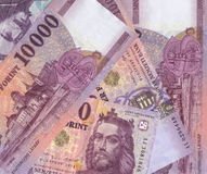 Hungarian forint banknotes Royalty Free Stock Photography