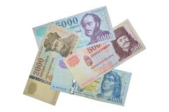 Hungarian forint banknotes Stock Photos