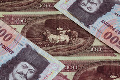 Hungarian forints Stock Photography