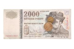Hungarian forints royalty free stock image