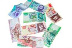 Hungarian forints isolated Royalty Free Stock Photography