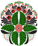 Hungarian furrier embroidery motif Royalty Free Stock Photo