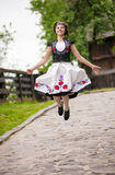 Hungarian girl in national clothes Royalty Free Stock Images