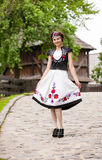 Hungarian girl in national clothes Royalty Free Stock Photography