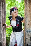 Hungarian girl in national clothes Royalty Free Stock Image