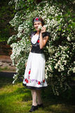 Hungarian girl in national clothes Stock Images