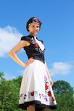 Hungarian girl in national clothes Royalty Free Stock Photo