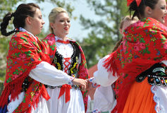 Hungarian girls dancing at Heritage Festival royalty free stock image