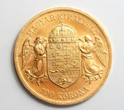 Hungarian Gold Coin Royalty Free Stock Photos
