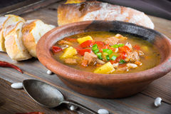 Hungarian goulash with beans Stock Photography