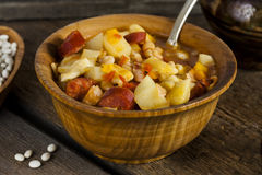 Hungarian goulash with beans Royalty Free Stock Photo