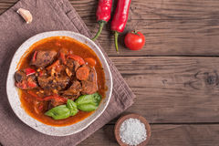 Hungarian goulash copy space royalty free stock photography