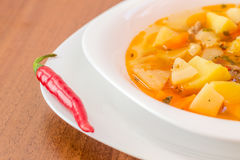 Hungarian goulash (gulyas) soup Stock Images