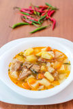 Hungarian goulash (gulyas) soup Stock Photo