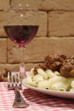 Hungarian goulash with red wine Royalty Free Stock Images