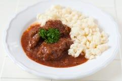 Hungarian Goulash soup Stock Photos