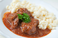 Hungarian Goulash soup Stock Photography