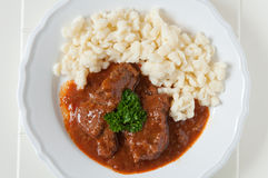 Hungarian Goulash soup Stock Photo