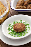 Hungarian green peas stew and fried meatball Stock Image