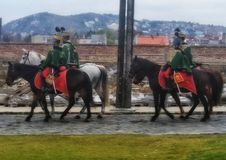 Guards on horses Royalty Free Stock Image