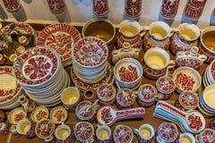 Hungarian handmade ceramics in the village Gyenesdias Stock Photo