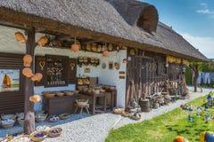 Hungarian handmade ceramics in the village Gyenesdias Stock Photography