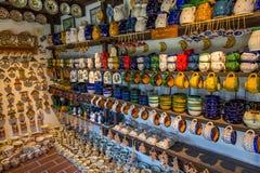 Hungarian handmade ceramics in the village Gyenesdias Royalty Free Stock Photos