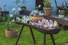 Hungarian handmade ceramics in the village Tihany Stock Photography