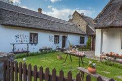 Hungarian handmade ceramics in the village Tihany Royalty Free Stock Image