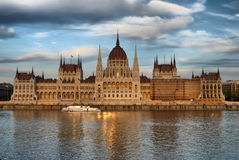 Hungarian house of parliament. In Budapest Stock Images