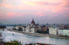 Hungarian Houses of Parliament in Budapest Royalty Free Stock Photo