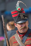 Hungarian infantry soldier - hussar Royalty Free Stock Photo
