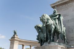 Hungarian kings at the Heroes' Square in Budapest Royalty Free Stock Photography