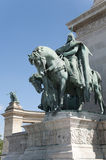 Hungarian kings at the Heroes' Square in Budapest Stock Photo