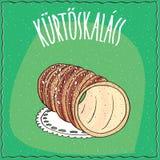 Hungarian kurtosh kalach topped with sugar Stock Photo