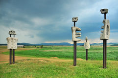 Hungarian land art Royalty Free Stock Photo