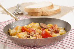 Hungarian letcho in a pan Royalty Free Stock Photos