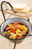 Hungarian letcho in a pot Stock Image